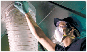 commercial Air duct cleaning technician