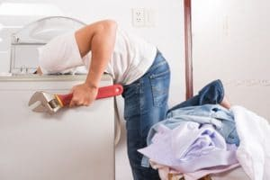 Dryer vent cleaning technician