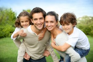 Family after having air duct cleaning service