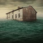 Flooded house image