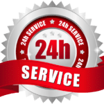 24-hour services badge