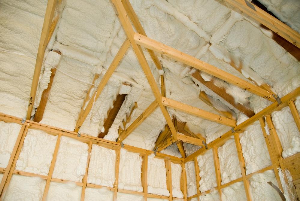 Attic foam insulation