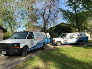 Aura Air duct cleaning crews at job site