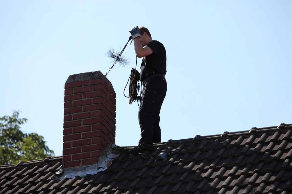 Chimney sweep service in Houston