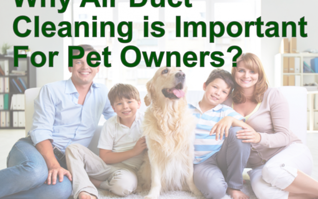 Air duct cleaning is important for pet owners