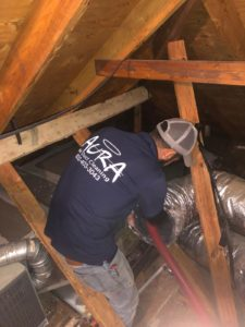 Replacing air ducts in the attic